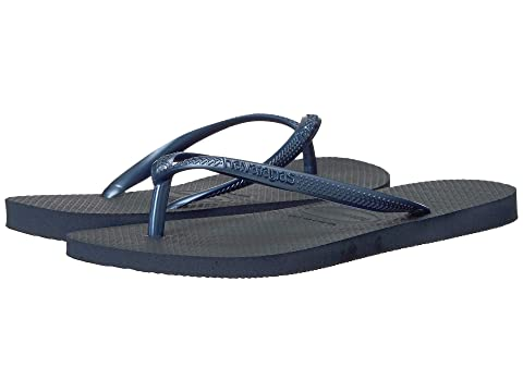 GreyWhite Havaianas BlueMint Green Light GoldenSteel GoldSand Slim 1NavyRose RoseBeetBlackCoralMineral Ballet Flip Flops Grey 71OwR7