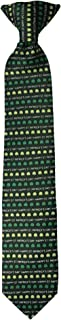Jacob Alexander Boys' Happy St. Patrick's Day Shamrocks 14 inch Clip-On Neck Tie