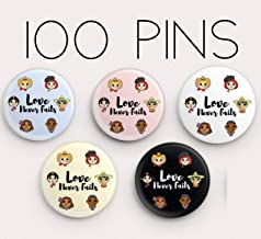 Love Never Fails Pins - Pack of 100 - JW International/Regional Convention 2019