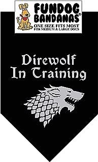 Direwolf in Training Dog Bandana (Game of Thrones)
