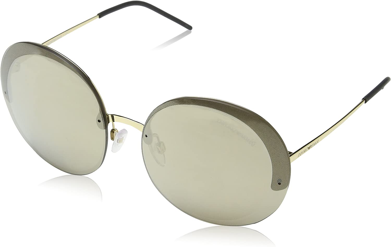 Emporio Armani EA2044 31245A Pale gold EA2044 Round Sunglasses Lens Category 3