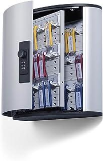 Durable 196623 Keybox Code Armoire pour 36 Clés Fermeture par Combinaison à Code - Avec 6 Porte-clés KEY CLIP