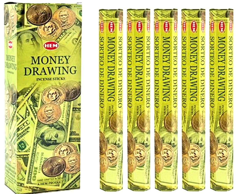 より平らな安定しましたスムーズに裾Money Drawing 100?Incense Sticks (5?x 20スティックパック)