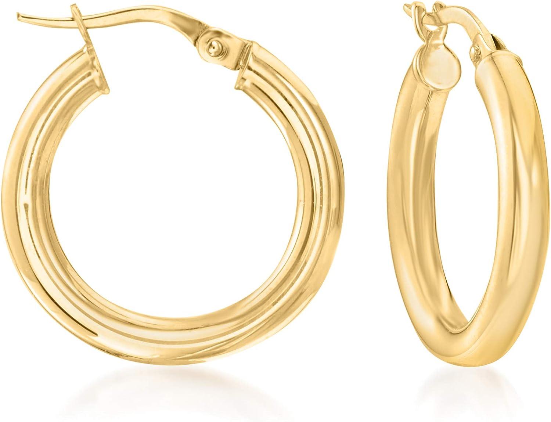 Ross-Simons Italian 3mm 18kt Yellow Gold Hoop Earrings
