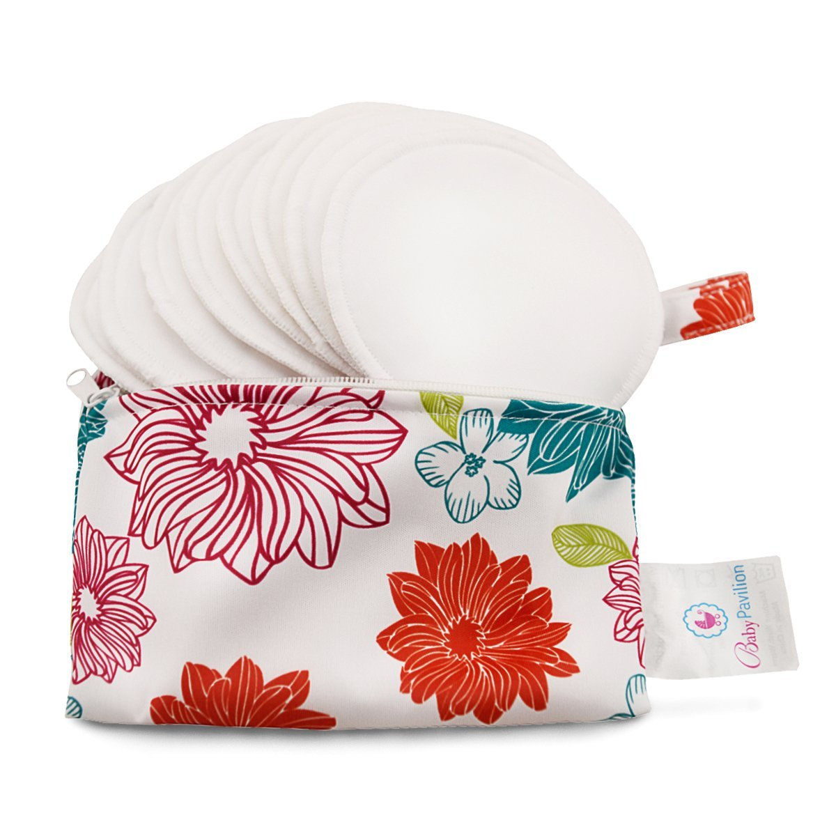 Baby Pavilion Washable Organic Complete Free Shipping Bamboo L Limited time cheap sale Nursing Flower Pads with