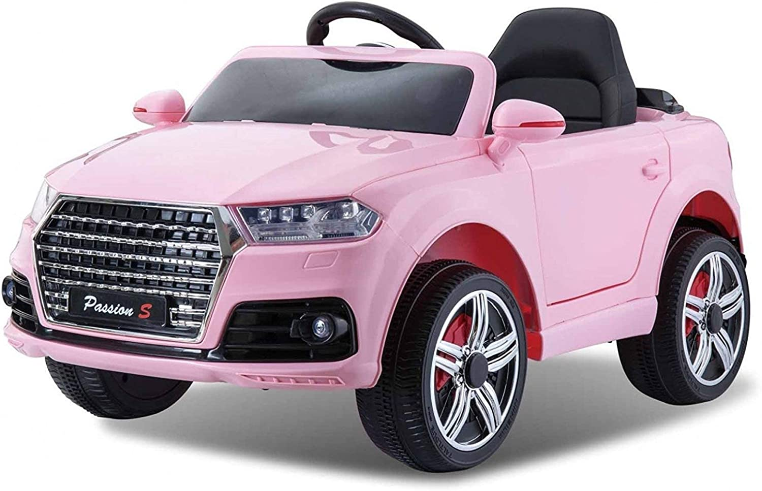 Trackpack Limited Audi Q7 Style Ride on Car 12v Pink with Parental Remote Control