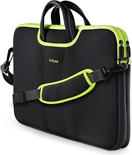 AirCase Laptop Bag Sleeve Messenger Bag for 13 Inch 14 Inch Laptop MacBook 4 Multi Pocket Black