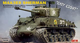Rye Field 5028 1/35 M4A3E8 Sherman Easy Eight w/ workable Track & Torsion Bars