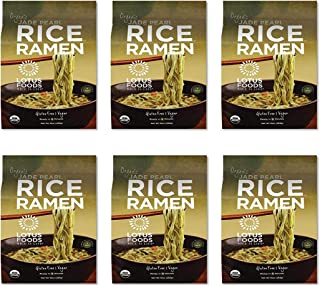 Lotus Foods Organic Quick-Cook Jade Pearl Rice Ramen Noodles, 10 oz, 6Count