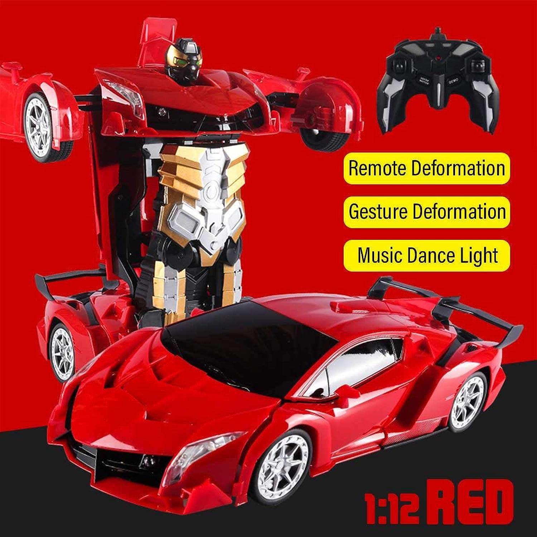 Generic 1 18 Remote Control Transformer Gesture Sensing rc Car Transformation Robots Models Collision Manual Deformation RC Car Gift Toy Red29