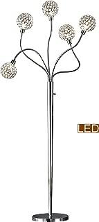 Artiva USA LED7783FLC Soho II Crystal Floor lamp, 65, Chrome