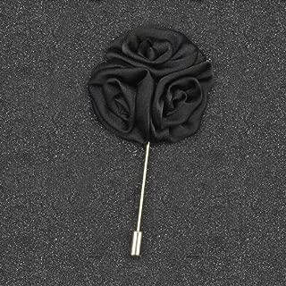 Men Women Cocktail Suit Corsage Lapel Stick Flower Pin Scarf Brooch Breastpin | StyleID - #9-Black