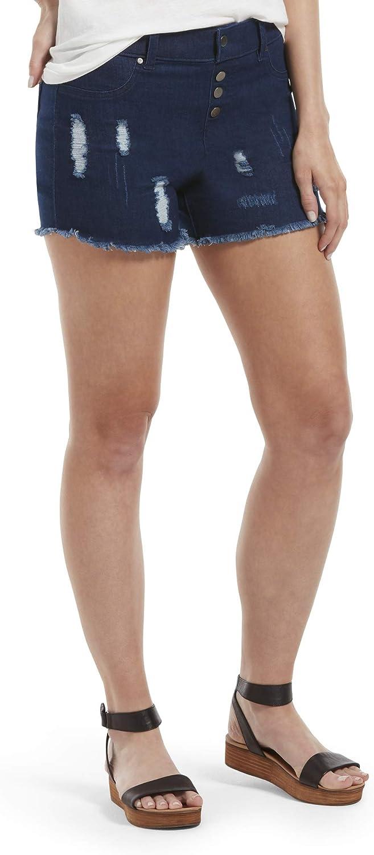 HUE Women's Ultra Soft Denim High Waist Shorts