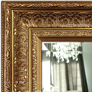 West Frames Elegance Ornate Embossed Wood Framed Wall Mirror (31