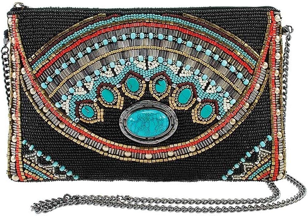 ☆新作入荷☆新品 Mary Frances Girl Tribe Mini 定番キャンバス Pattern Handbag Crossbody Western