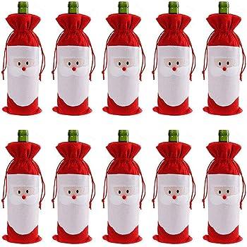 Christmas Decorations Santa Wine Bottle Cover Bag Xmas Party Table Decor Novelty