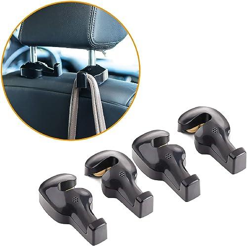 Toplus 4 PACK Car Headrest Hooks - Vehicle Universal Car Organizer Car Back Seat Headrest Hanger Holder Hook for Bag ...