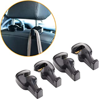 Toplus 4 PACK Car Headrest Hooks - Vehicle Universal Car Organizer Car Back Seat Headrest Hanger Holder Hook for Bag Purse...