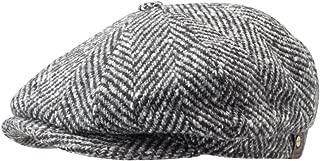 Stetson Hatteras Herringbone Wool Newsboy Cap