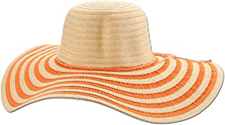 "Panama Jack Women's Sun Hat - Packable, Lightweight Braid/Ribbon, UPF (SPF) 50+ Sun Protection, 5"" Floppy Big Brim"
