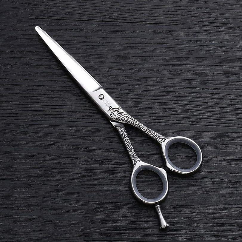 相談サーバントバクテリア5.5インチの理髪はさみ440Cのステンレス鋼の理髪はさみ ヘアケア (色 : Silver)
