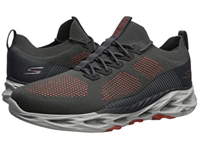 SKECHERS Go Run Vortex (Charcoal/Orange) Men