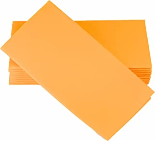 "SIMULINEN Dinner Napkins – Disposable, Orange, Cloth-Like – Elegant & Heavy Duty, Soft & Absorbent, Like Paper but Better! 16""x16"" – Box of 50"
