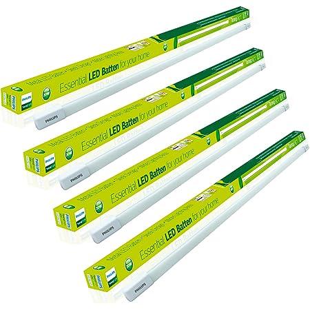 Philips Tarang Bright 20-Watt LED Batten (Pack of 4, Cool Day Light, Rectangle)
