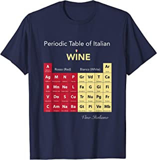 Periodic Table of Italian Wine T-Shirt