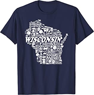 Wisconsin Home State T shirt I Love Wisconsin Vintage Tee T-Shirt