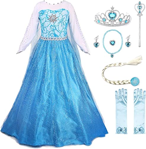 JerrisApparel Princess Dress Queen Costume Cosplay Dress Up with Accessories