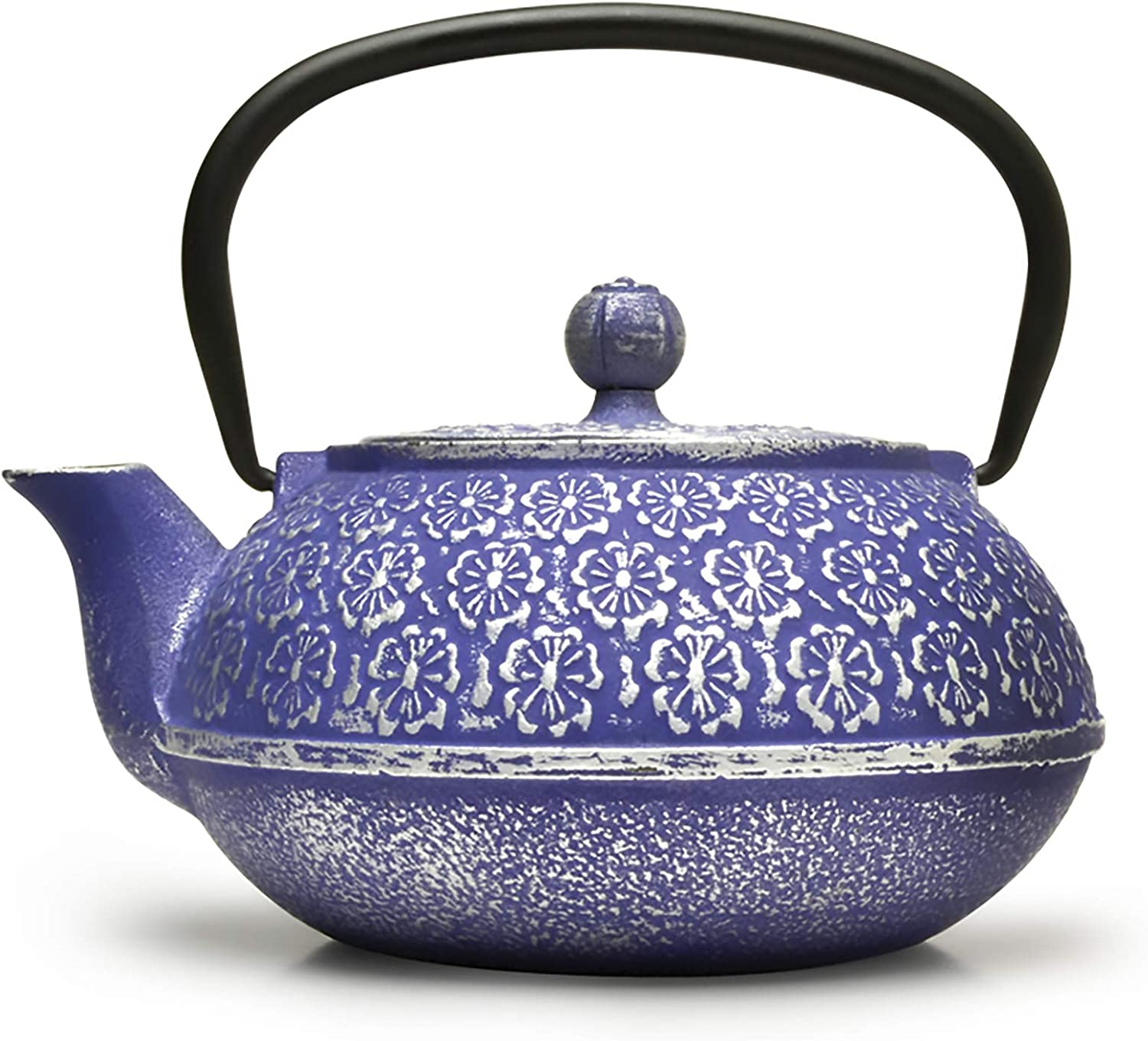 Primula Blue Branded goods Floral Cast Iron Teapot Japanese Max 78% OFF Tetsubin Stainless