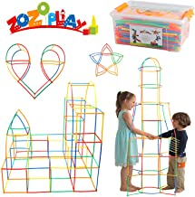 ZoZoplay Straw Constructor STEM Building Toys 400 Piece Straws and Connectors Building Sets Colorful Motor Skills Interloc...