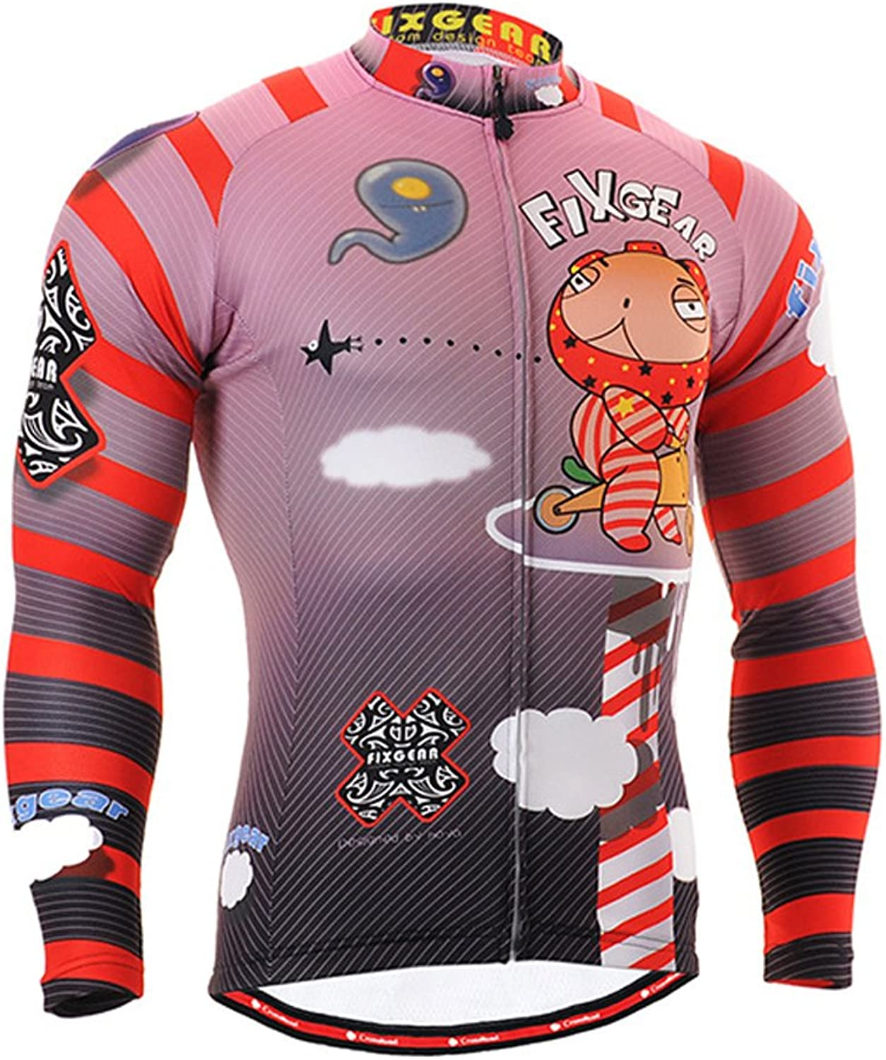 Cycling MTB Motorcycle Workout Compression Sportwear Jersey Top Zipper Y102 L