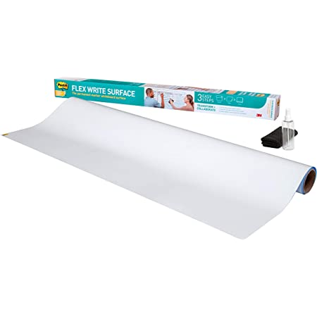 Post-it Flex Write Surface, 8 ft x 4 ft, White Dry Erase Whiteboard Film (FWS8X4)
