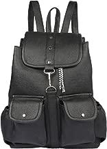 TARSHI Women's PU Black Backpack