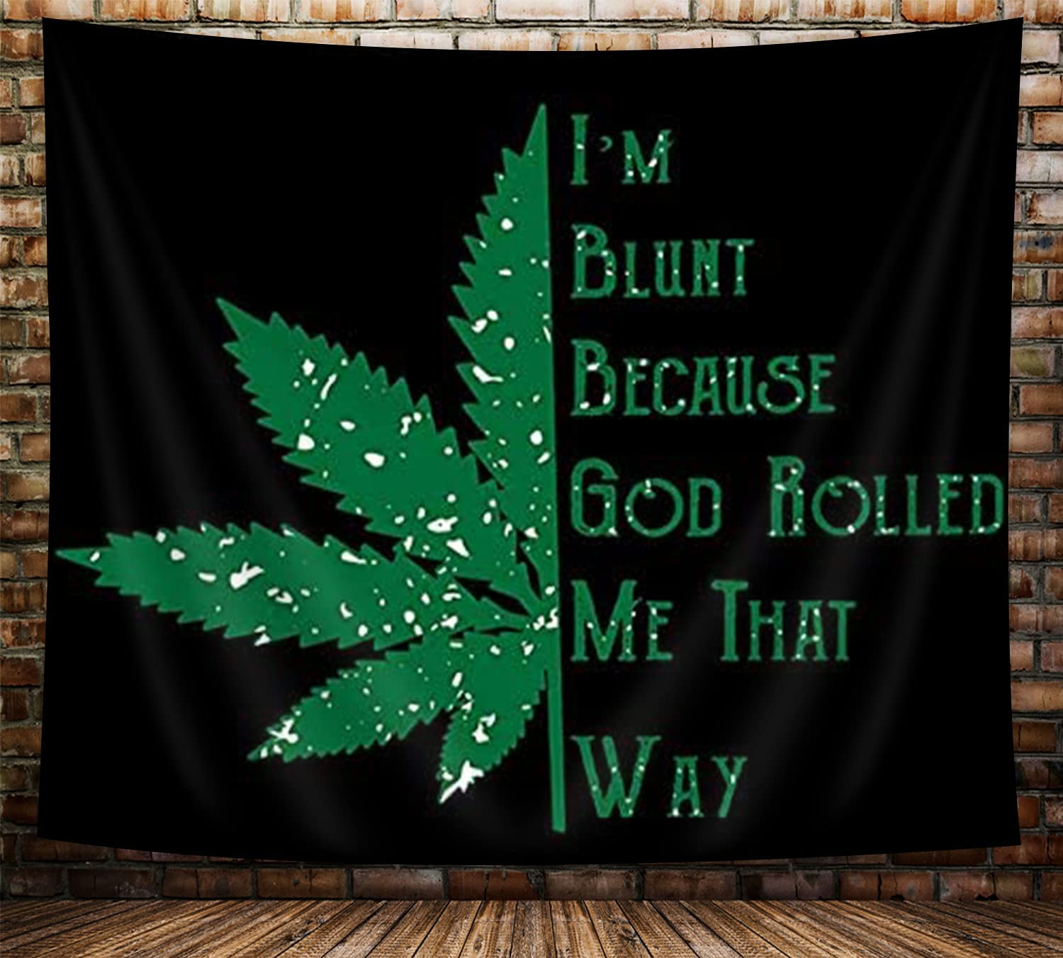 Cool Trippy Weed Tapestry for Men, Stoner Tapestry, Psychedelic Hippie  Cannabis Leaves Tapestry for Bedroom Aesthetic, Green Marijuana Leaf with  ...