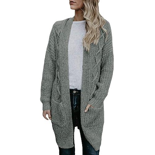 9da7cb002ed Long Knitted Cardigan: Amazon.co.uk