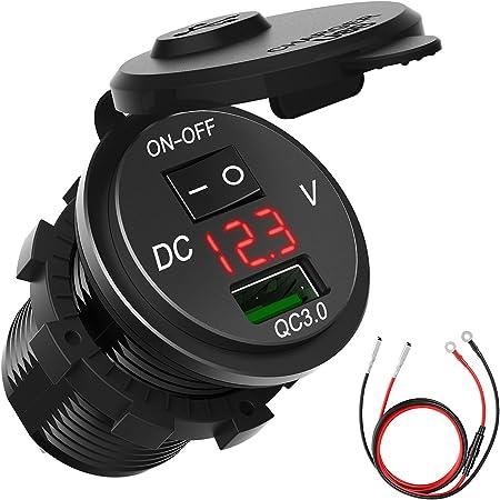 USB 5V Installation Socket 12V 24V Adapter Cable Charger Car Truck Mobile Phone