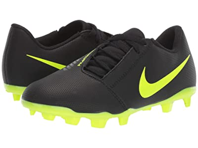 Nike Kids Jr. Phantom Venom Club FG Soccer (Toddler/Little Kid/Big Kid) (Black/Volt) Kids Shoes