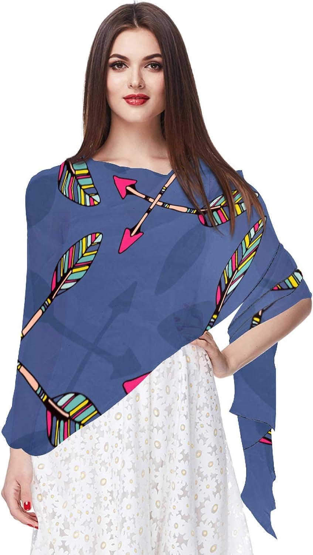 Tribal Arrows Women Soft Chiffon Pashmina Shawl Wrap Scarf for Bridesmaid Wedding Formal Party Evening Dress