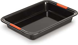Le Creuset 94101600000000 Toughened Non-Stick Bakeware Rectangular Cake Tin, 28 cm, Black