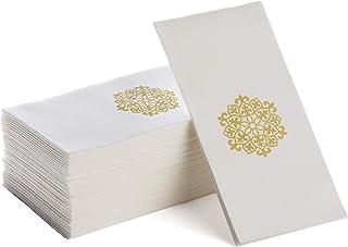 Linen-Feel Guest Towels   Decorative Bathroom Napkins   Soft, Absorbent Disposable Paper Hand Towels for Kitchen, Bathroo...