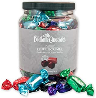 Assorted Chocolate TruffleCremes | Dark & Milk Chocolate | Made from All-Natural Ingredients | 28-ounce Bulk Jar | A Perfe...