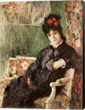 Portrait de Madame Camille Monet by Claude Monet Canvas Art Wall Picture, Museum Wrapped with Black Sides, 32 x 42 inches
