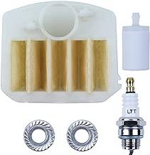 Haishine Air Filter Bar Nuts Fuel Filter Spark Plug for Husqvarna 340 345 346 XP 350 351 353 Chainsaw [#537024003]