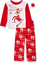 Rudolph Kids Family Sleepwear Collection with Novelty Red Nose