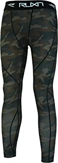 RUXN CL37 Mens Compression Pants - Workout Tights for Men - Active Sports Quick Dry Leggings Base Layer (Camokhaki, XL)