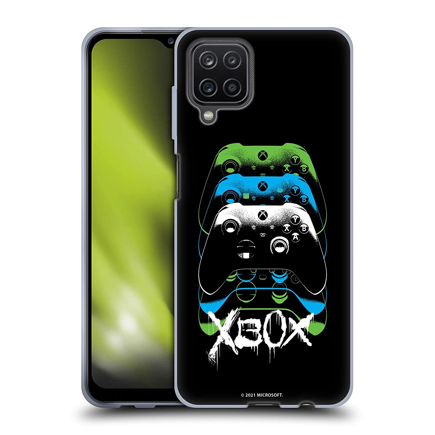 Head Case Designs Officially Licensed Xbox Controller Graphics Series X Soft Gel Case Compatible with Samsung Galaxy A12 (2020)