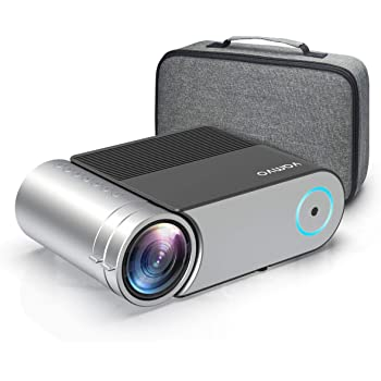 "Mini Projector, Vamvo L4200 Portable Video Projector, Full HD 1080P 200"" Display Supported; Outdoor Movie Projector 3800 Lux with 50,000 Hrs, Compatible with Fire TV Stick, PS4, HDMI, VGA, AV and USB"